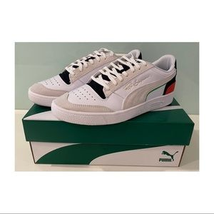 Men's Puma Ralph Sampson low sneakers casual white black red green blue US 8